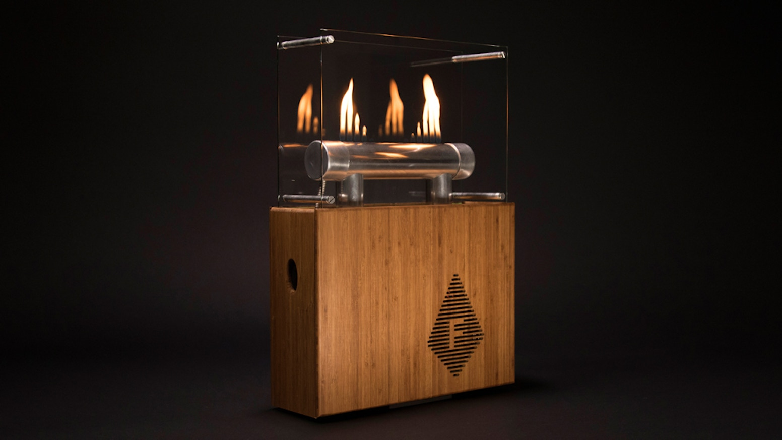 fireside audiobox light your music on fire by grey street design