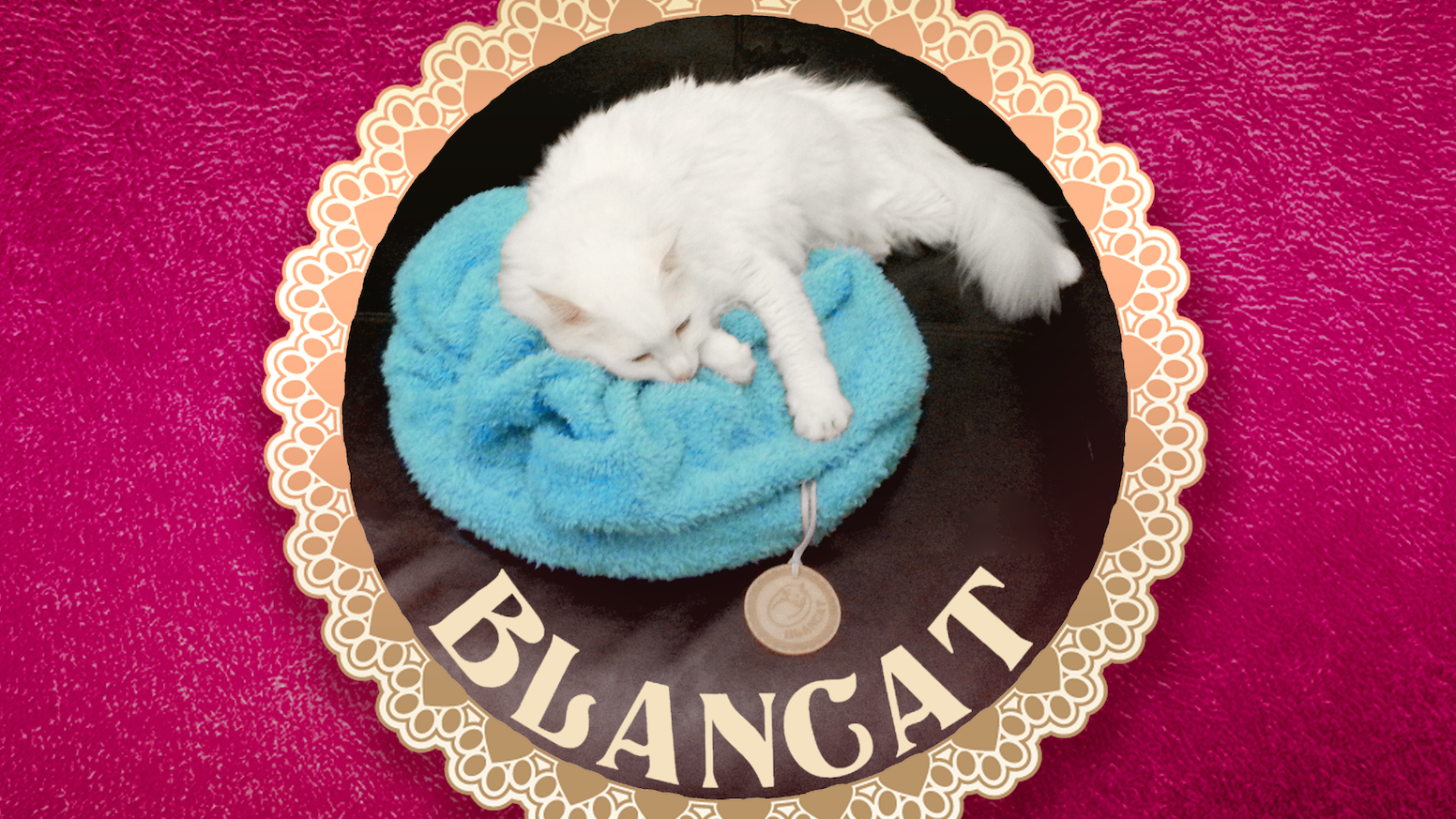 A unique soft and relaxing blanket for your cat. Blanket encourages your cat's natural padding reflex by mimicking her mother's tummy.