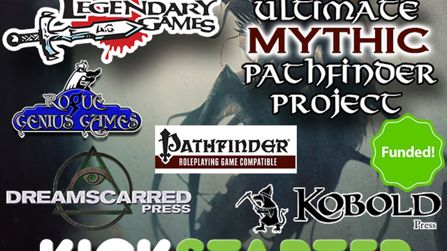 A massive expansion to the Pathfinder RPG Mythic rules in three print books, featuring spells, feats, monsters, mythic paths, and more!