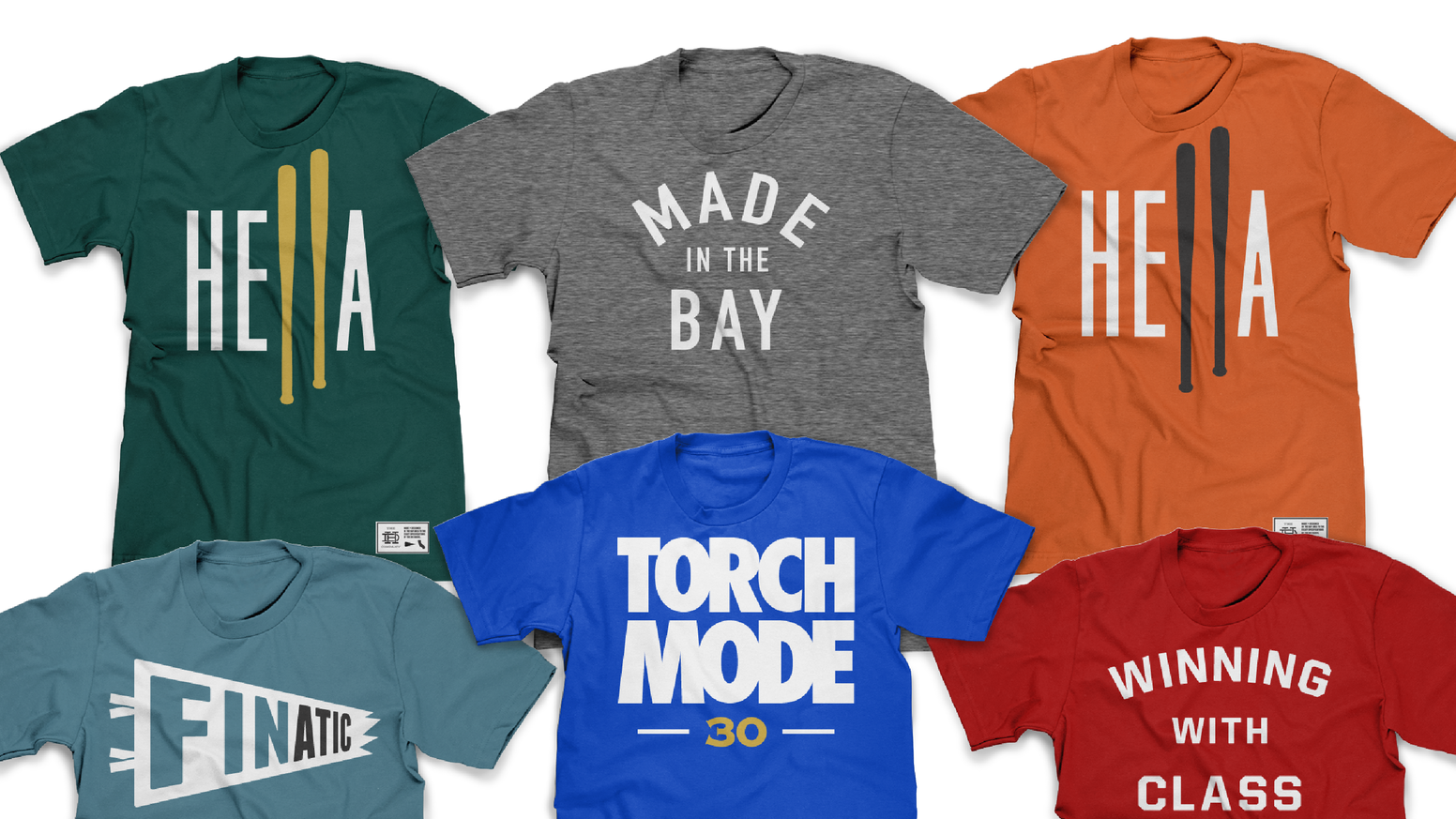 Our goal is to create locally manufactured apparel for Bay Area Die Hard fans - with all new colors true to SPORT YOUR COLORS