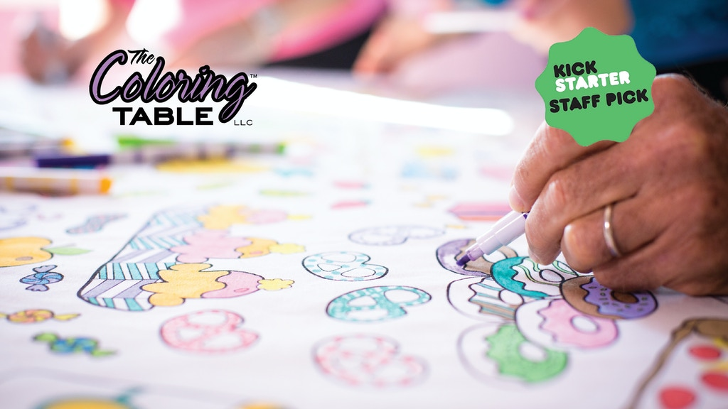 The Coloring Table by Megan Dove — Kickstarter