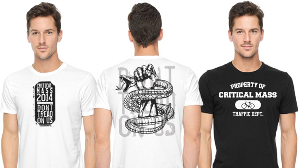 "Project image for Critical Mass ""Don't tread on us"" and ""Property of"" T-Shirts"