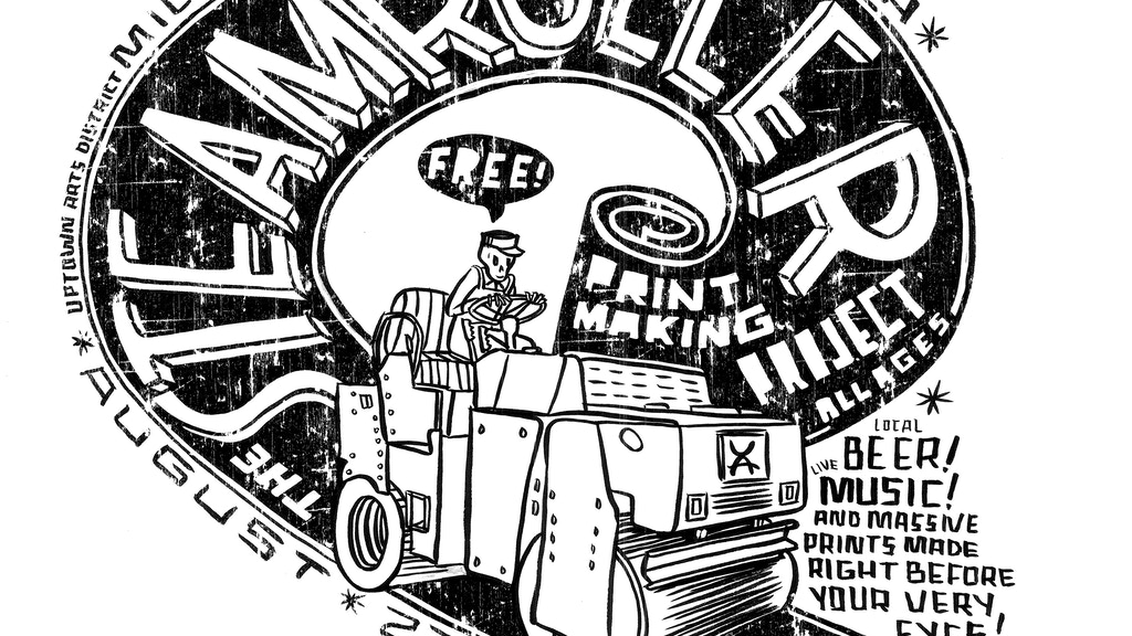 the steamroller printmaking project project video thumbnail