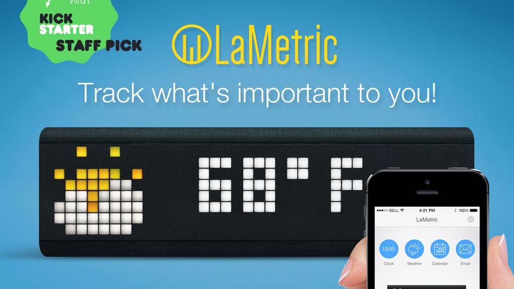 Lametric customizable smart ticker for life and business project video thumbnail