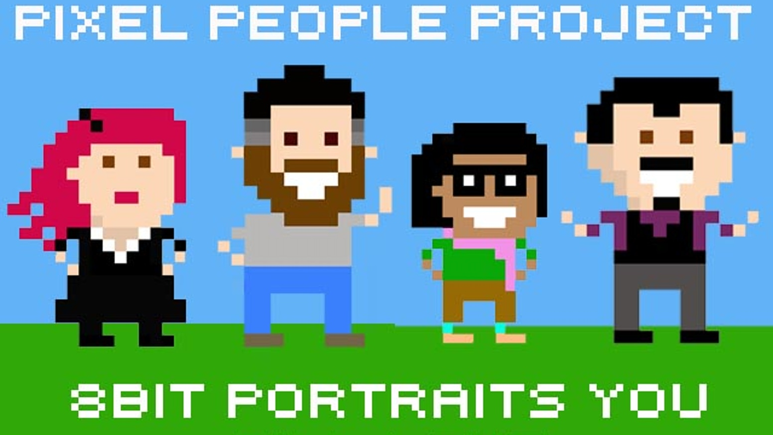 I wanted to spread the pixel love and produce a portrait for one lovely person from around the world each day for a year. Cool huh? 166 backers helped me do that. People of the internet are rad.
