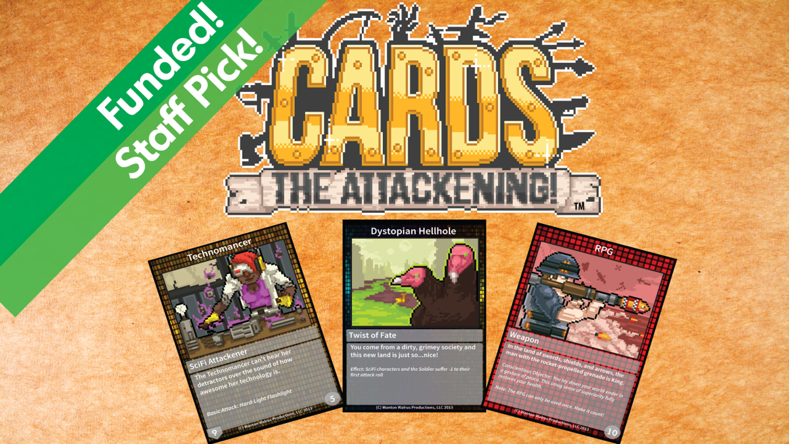 A pixel-powered tabletop card battle game for 2-4 players using the latest in pictures-on-paper technology!