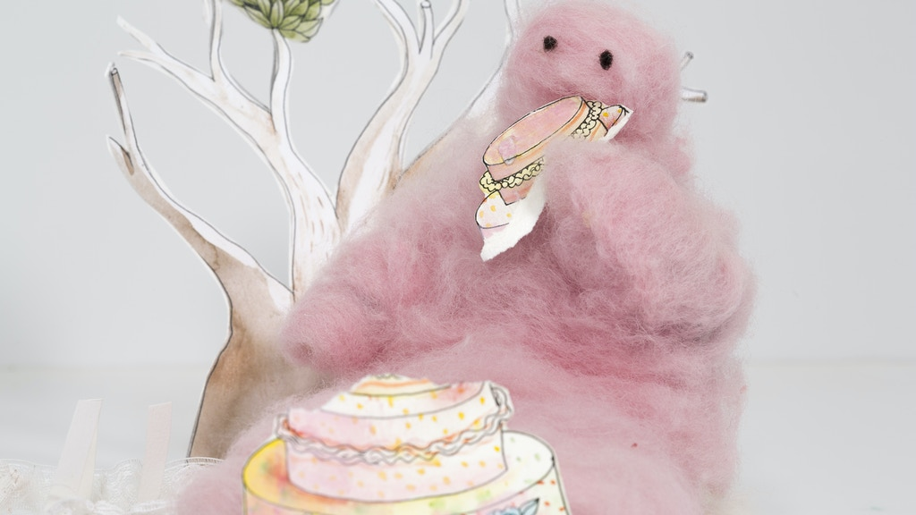 """""""Hungry for Cake"""", a short stop-motion animation project video thumbnail"""