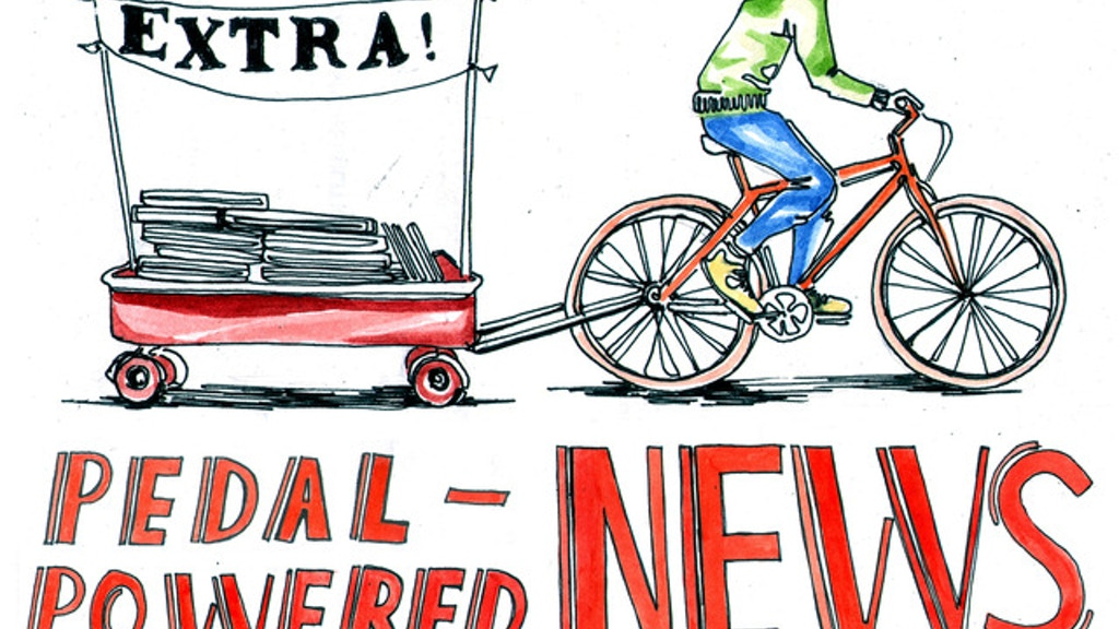 Pedal-Powered News project video thumbnail