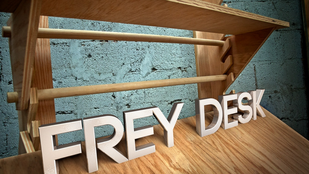 Frey Desk- flexible workspace for creative people project video thumbnail
