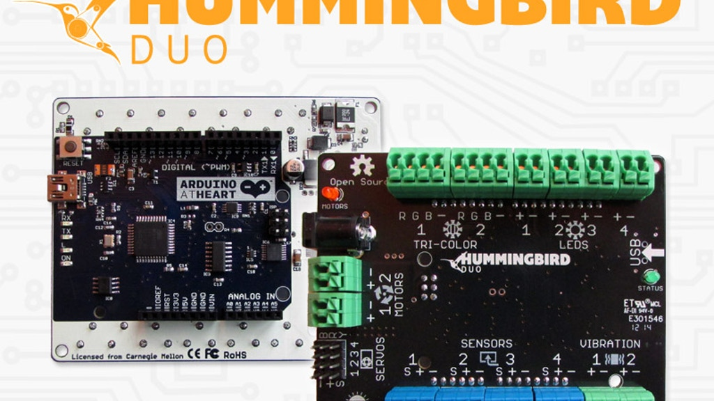 Hummingbird Duo: A Robotics Kit for Ages 10 to 110 project video thumbnail