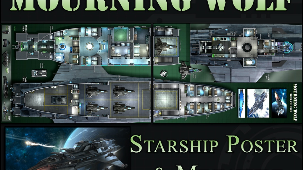 Mourning Wolf: Starship Map & Miniature project video thumbnail