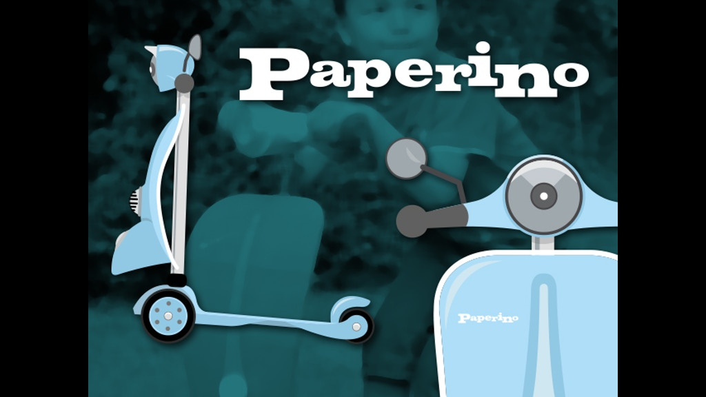 paperino the world 39 s first retro styled kick scooter by ship duck kickstarter. Black Bedroom Furniture Sets. Home Design Ideas