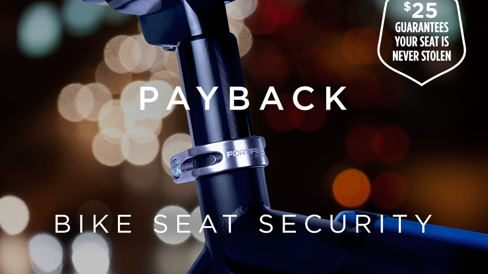 After our friend's bike seat was stolen, we created Payback: a bike seat security system with a Lifetime Anti-Theft Guarantee. ***NOW SHIPPING***