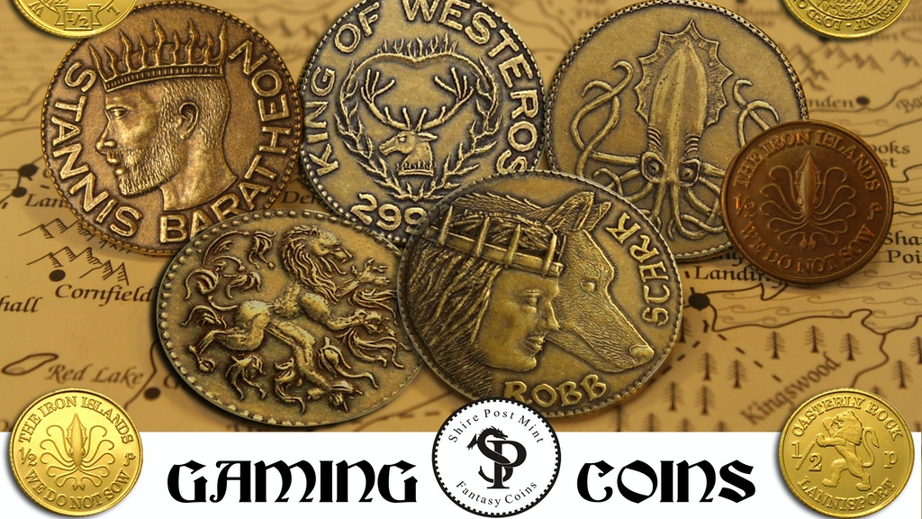 A GAME OF THRONES, Fantasy Gaming Coins, by Shire Post Mint project video thumbnail