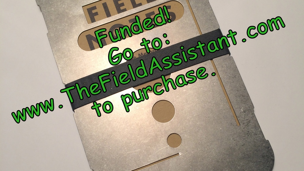 The Field Assistant: Titanium memo notebook cover and more! project video thumbnail
