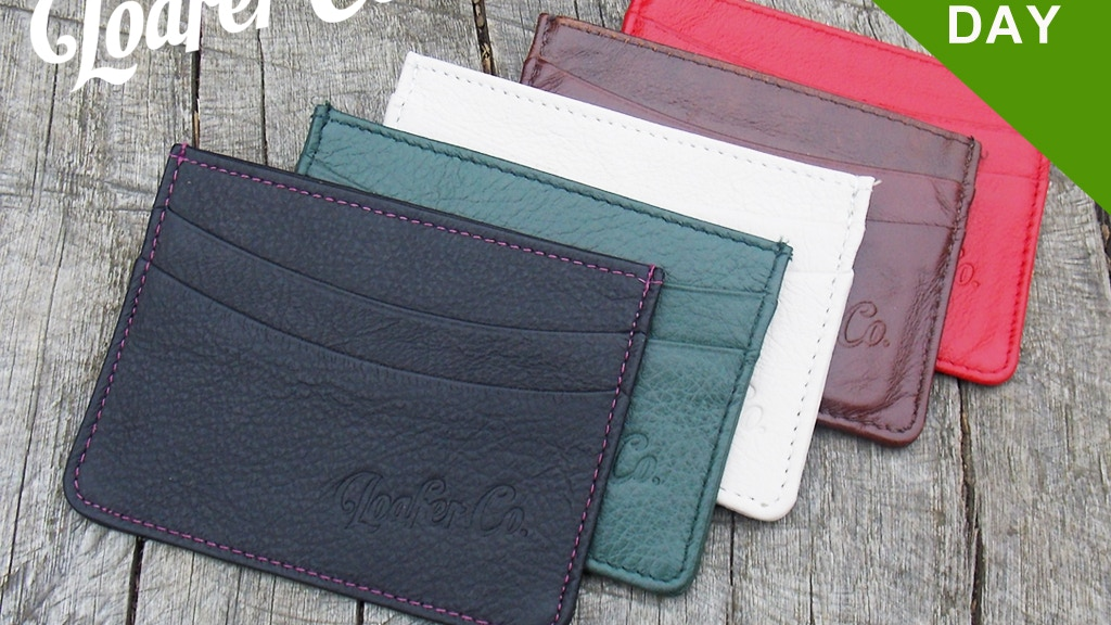 Leather Slim Wallet by LoaferCo - Hand crafted in Britain project video thumbnail