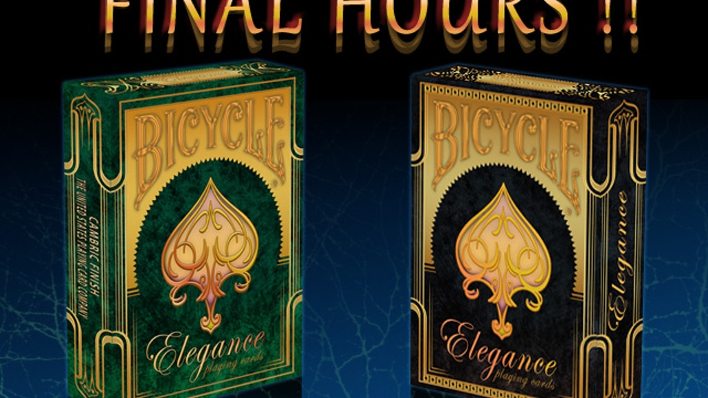 Bicycle Limited Edition Elegance Playing Cards project video thumbnail