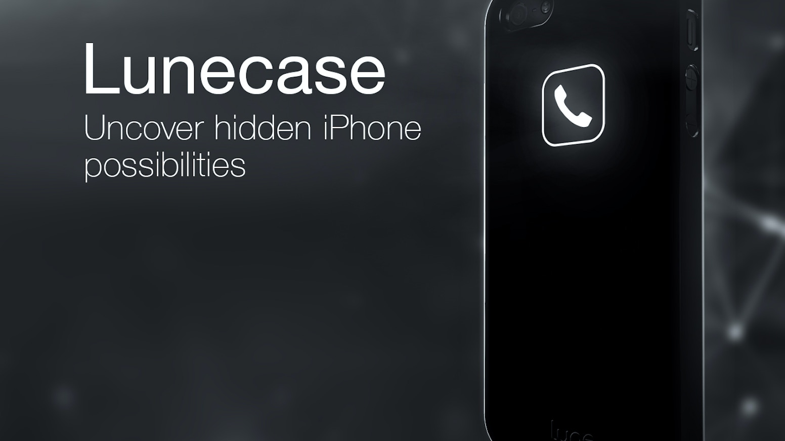 It's an intelligent case that receives notifications from the iPhone. Wireless, smart, elegant!