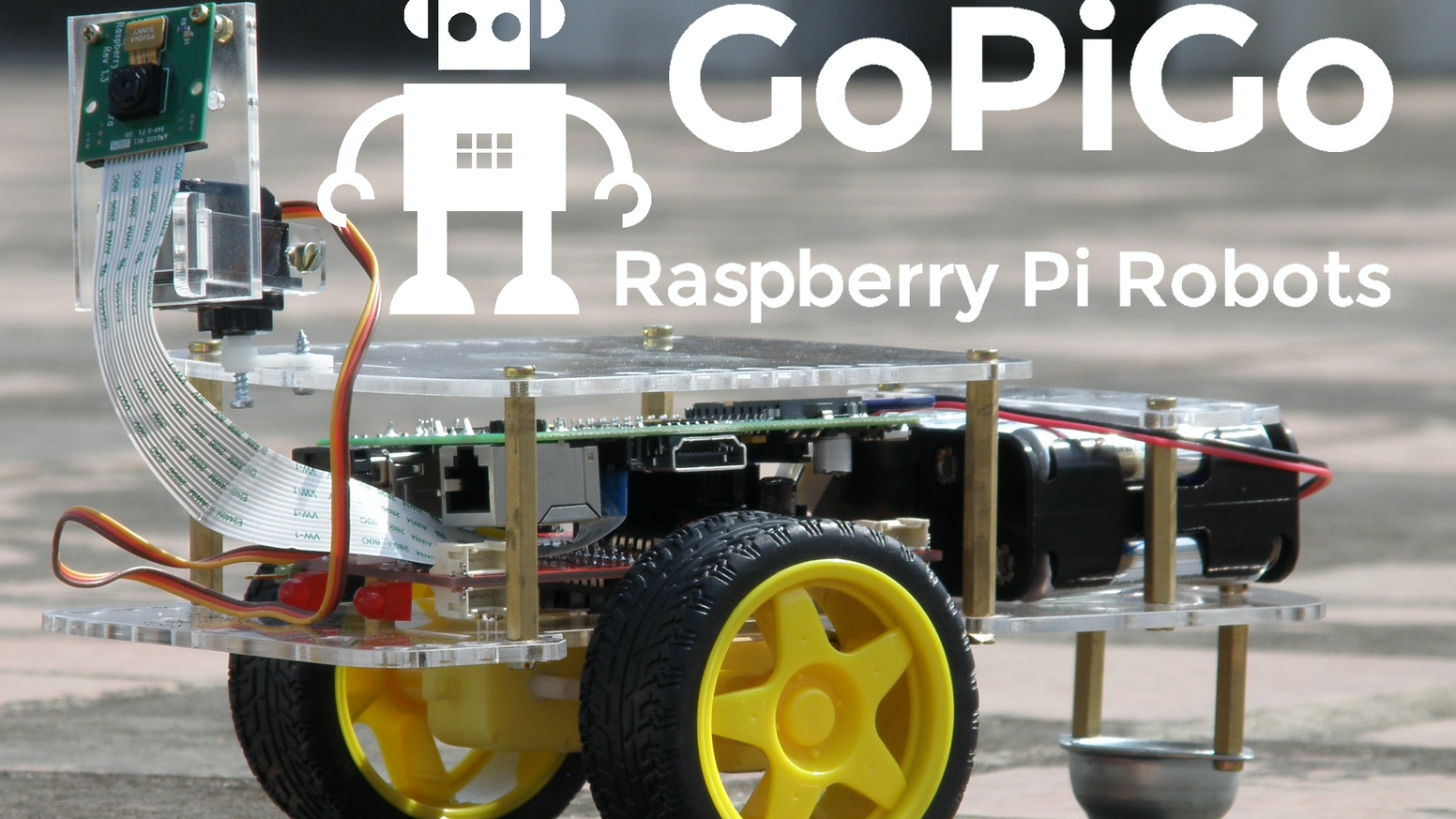 The GoPiGo is a delightful and complete robot for the Raspberry Pi that turns your Pi into a fully operating robot.