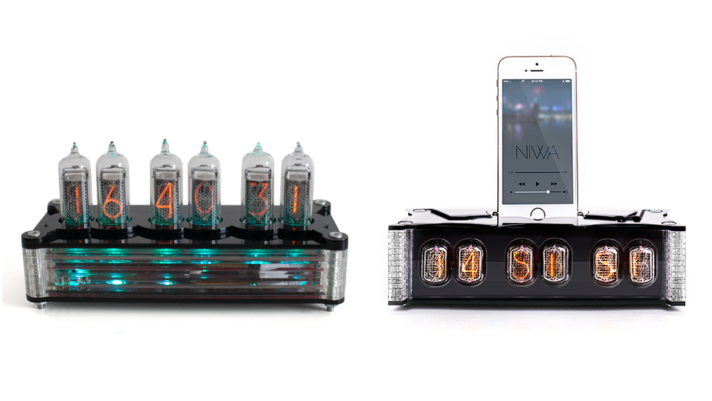 Nixie tube clock with dock station project video thumbnail