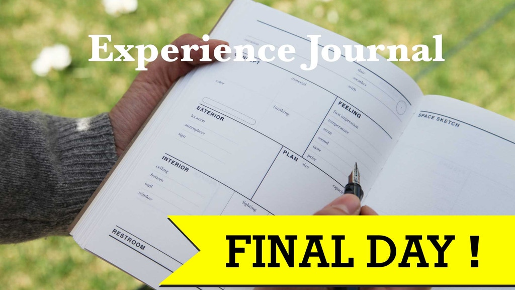 Experience Journal : Notebook for your creative observation project video thumbnail