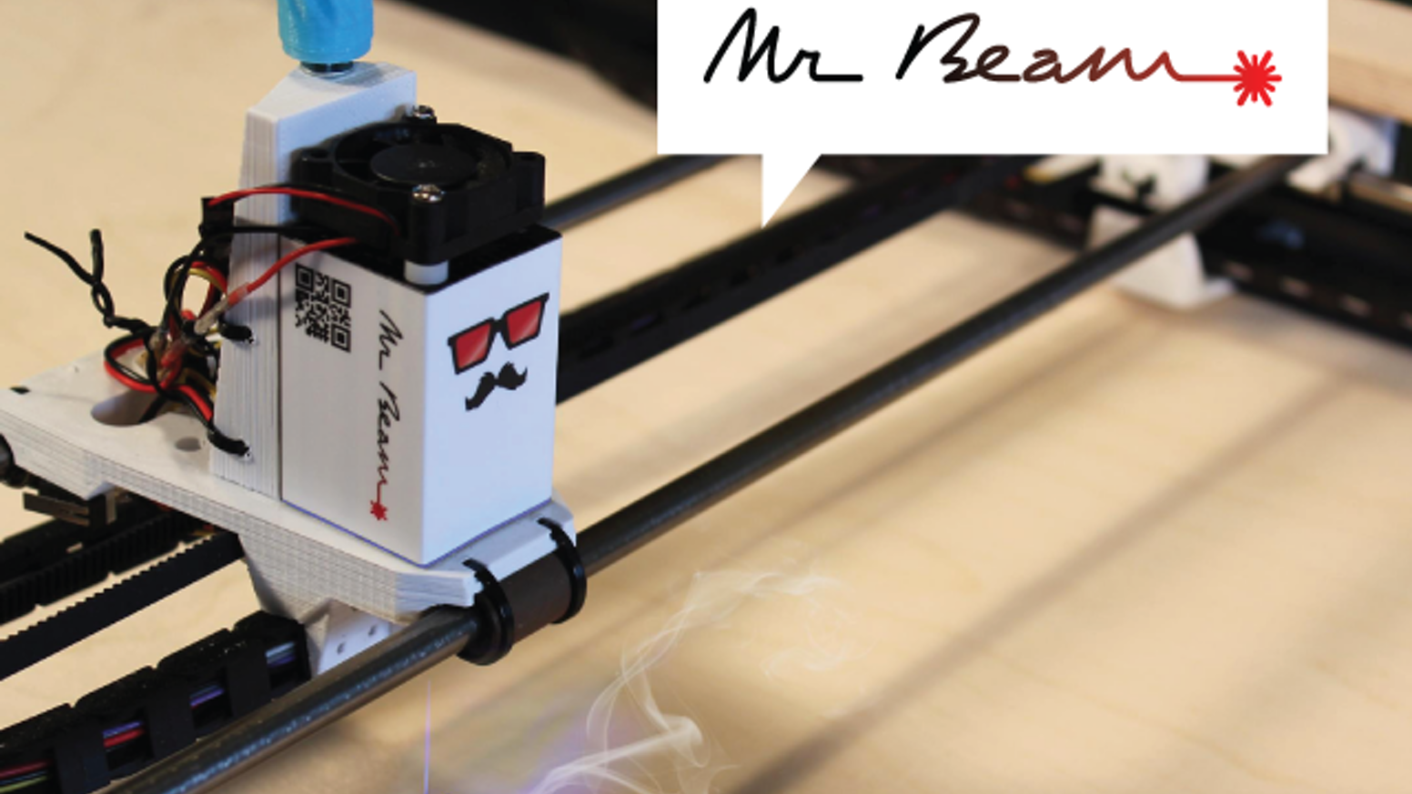 Mr Beam is an open source DIY laser cutter and engraver kit for paper, wood, plastic and other materials. It's fun and easy to use.