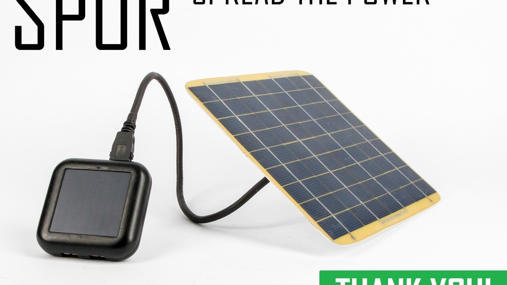 SPOR: Solar Battery Chargers, USB Cables & Accessories project video thumbnail
