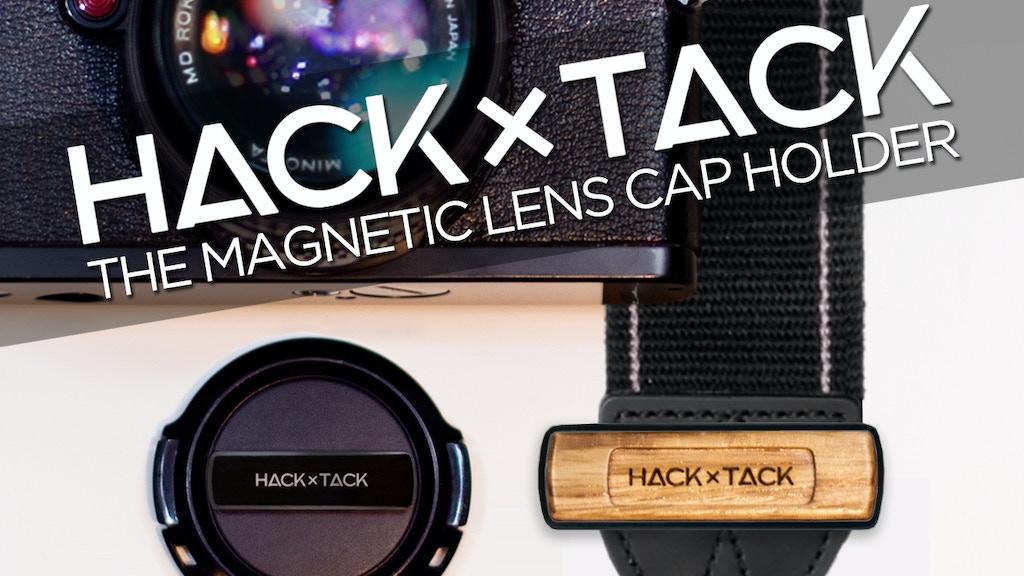 Magnetic camera lens cap holder - HACKxTACK project video thumbnail