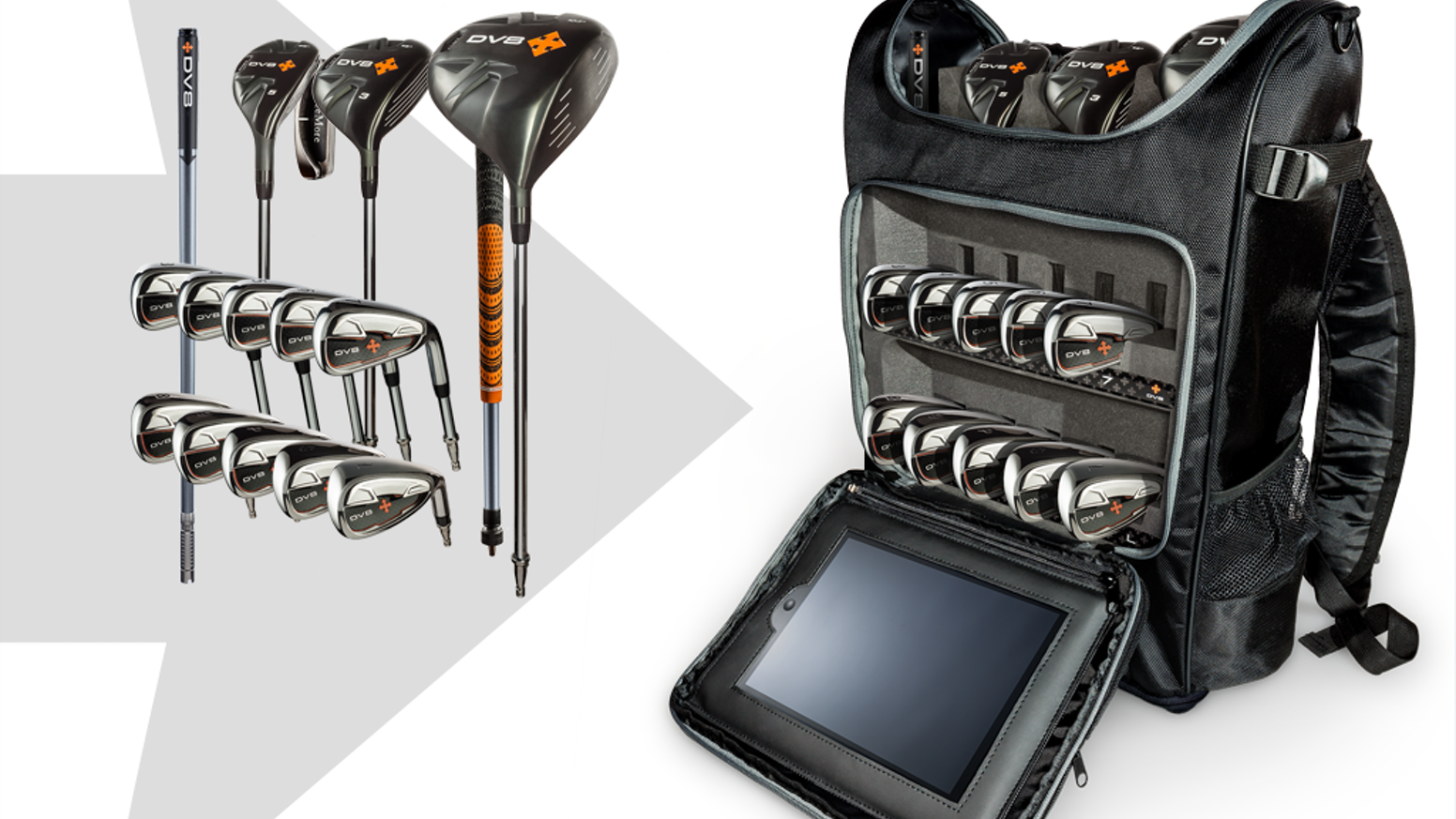 A game-changing set of golf clubs in a liberating, life-styled backpack.