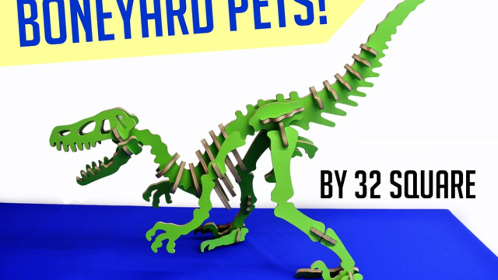 Boneyard Pets: Colorful 3D Puzzle Dinosaurs Made in Brooklyn project video thumbnail
