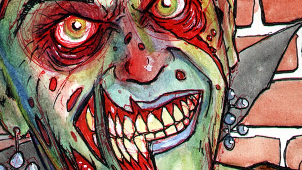 1000 zombie portraits art project project video thumbnail