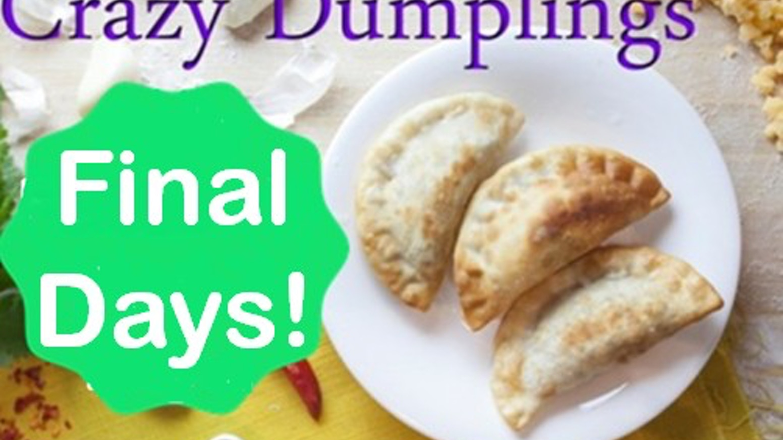 Dumplings are the most versatile and easy-to-make food on the planet! Learn over 40 dumpling recipes with Crazy Dumplings!