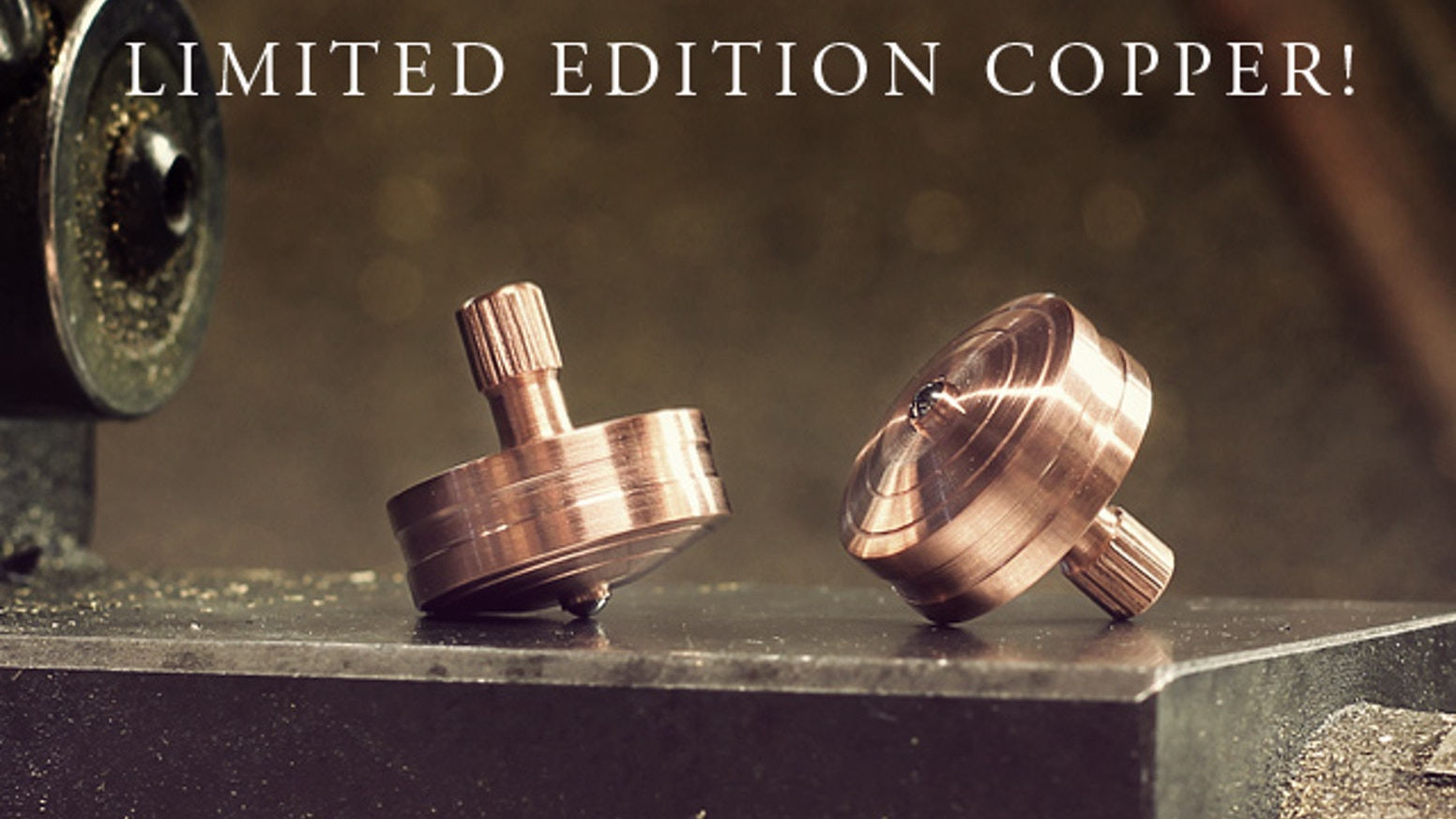 Manually machined solid brass & stainless steel spinning tops.  The not so obvious addition to your every day carry.
