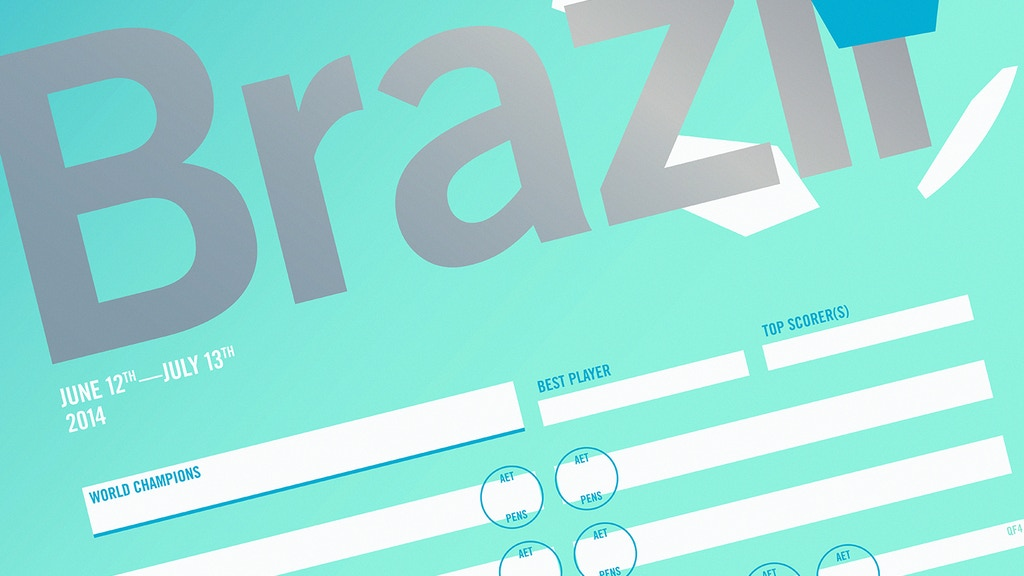 Celebrate Brazil 2014 with our World Cup wall chart poster project video thumbnail
