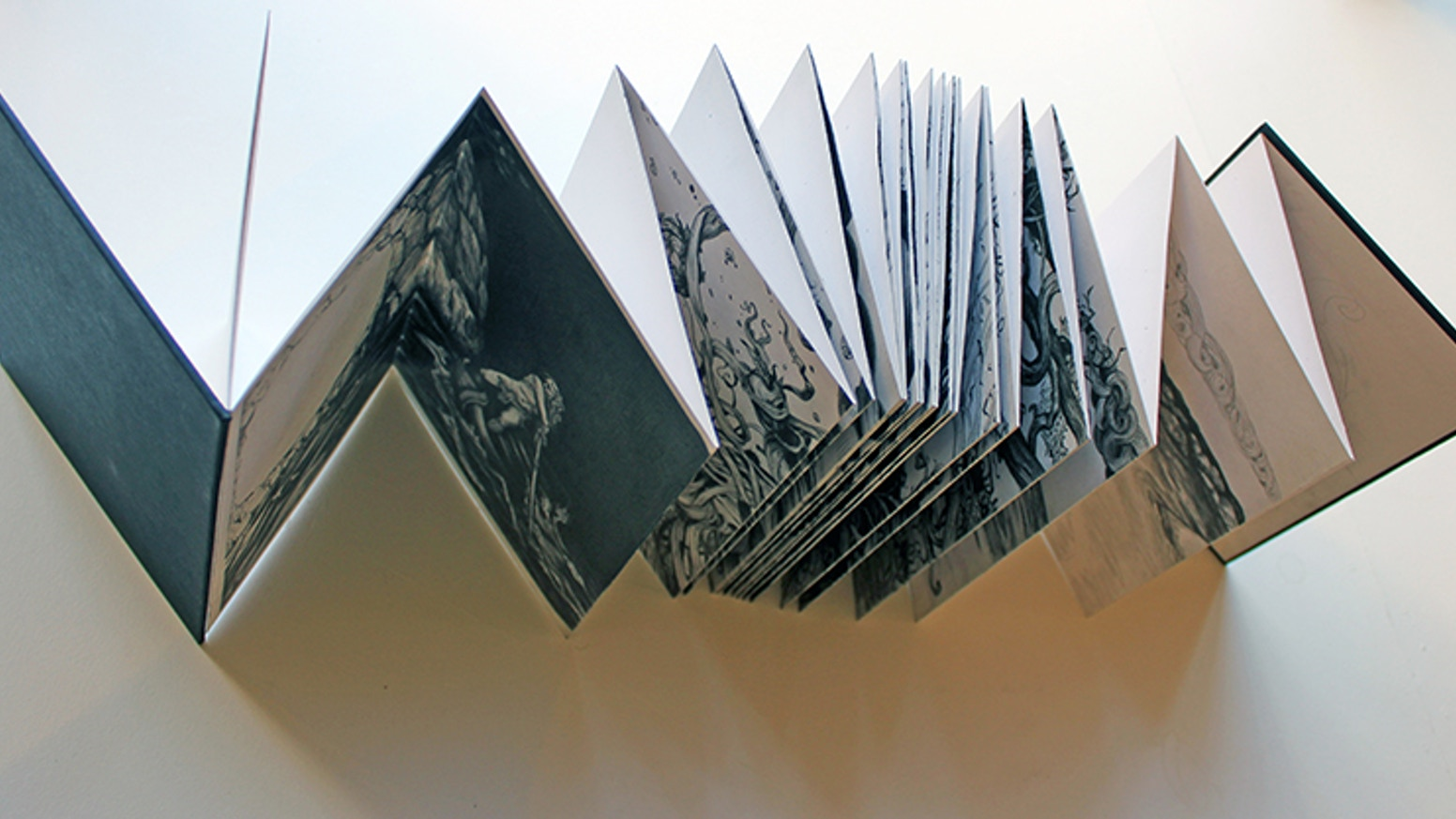 The publishing of Tim Lane's five metre long concertina book drawing as a limited edition artist bookwork.