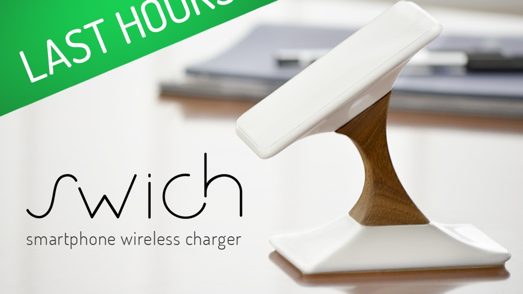 swich wireless charger for iphone android by lutman design
