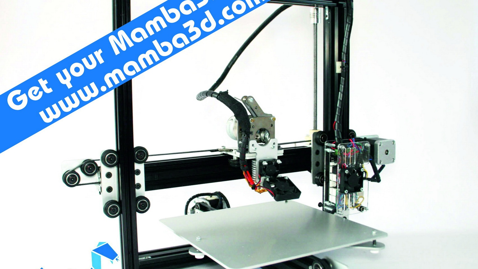 The Mamba3D printer is an affordable, high quality, all-metal, open source 3D-printer with a 200x200x200mm build area.