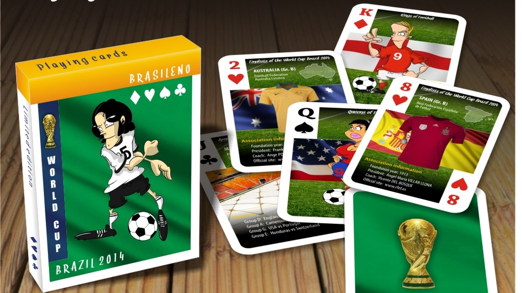 Project image for Brasileno -Football/Soccer World Cup inspired playing cards!
