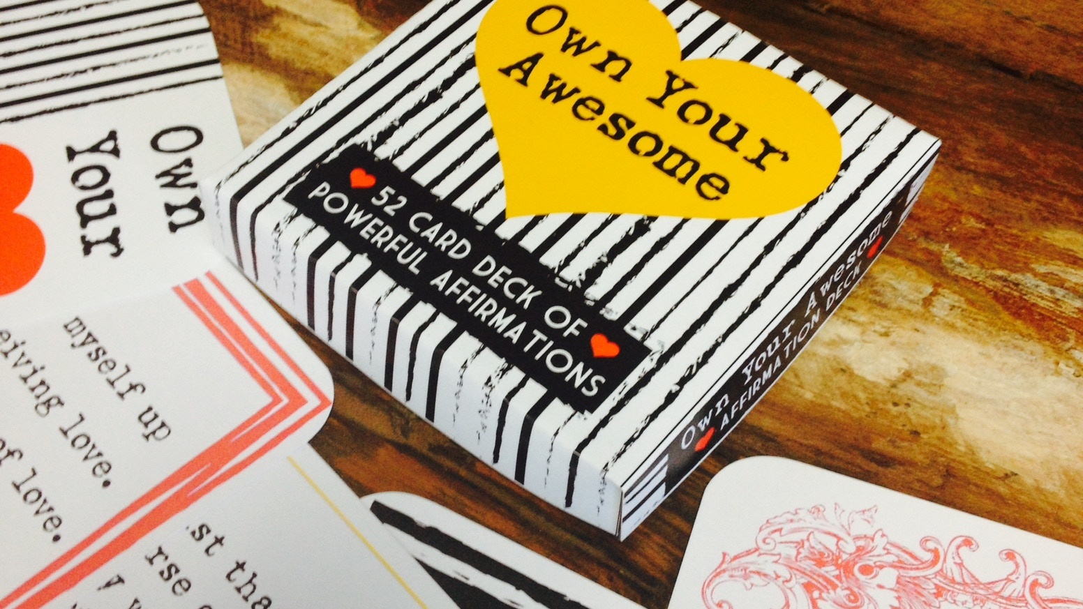 Own your awesome an affirmation deck by tricia huffman kickstarter you are what you think so why not think awesome thoughts altavistaventures Gallery