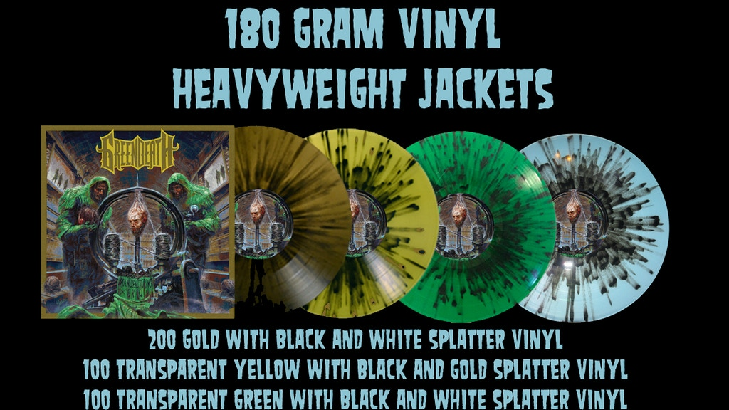 Green Death Manufacturing Evil On Vinyl 4 Colors By