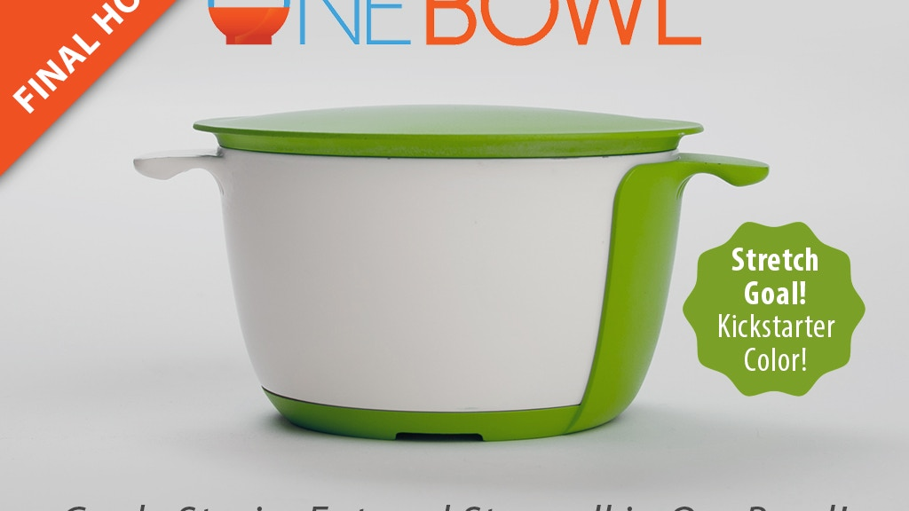 OneBowl: cook, strain, eat, and store all in one bowl! project video thumbnail