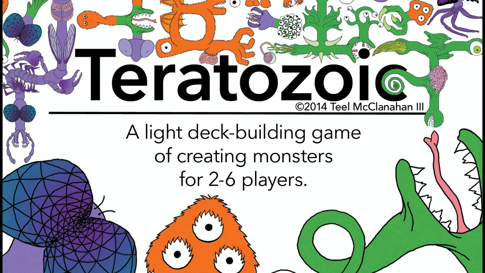 A light deck-building game for 2-6 players; outsmart your opponents, hone your gene pool, and dominate the age of monsters!