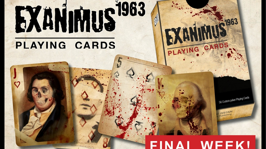 Project image for The Blood Splattered Zombie Exanimus 1963 Playing Cards