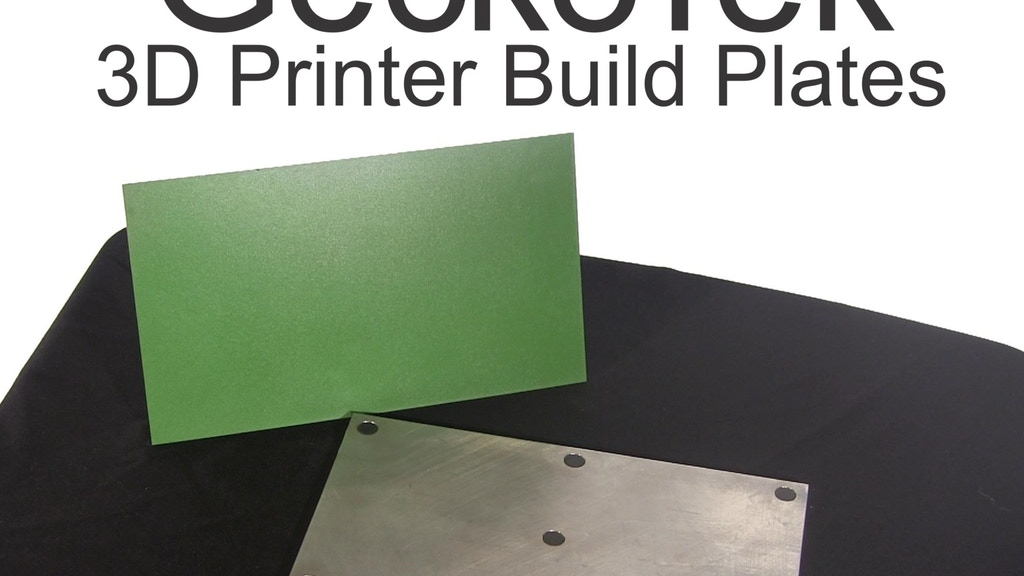 GeckoTek 3D Printer Build Plate project video thumbnail