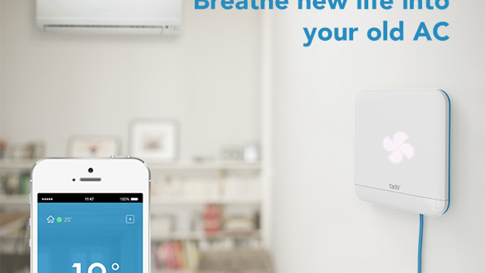 tado° Cooling turns your AC unit into a smart device: Auto-off, precooling, indoor presence detection and single room control.