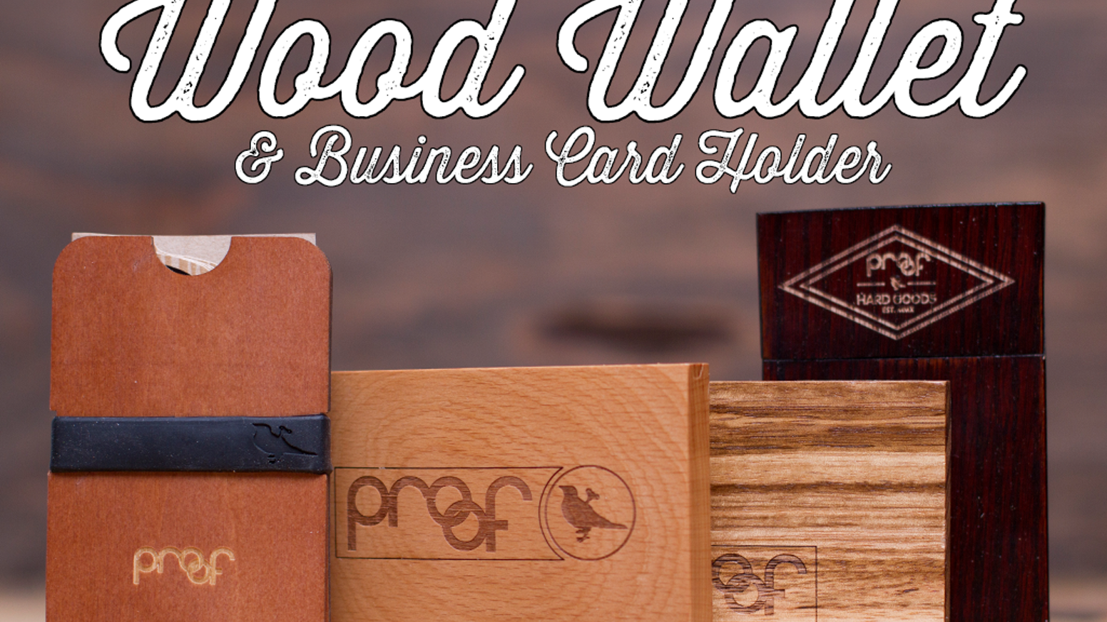 Wood Minimalist wallet / business card holder by Proof — Kickstarter
