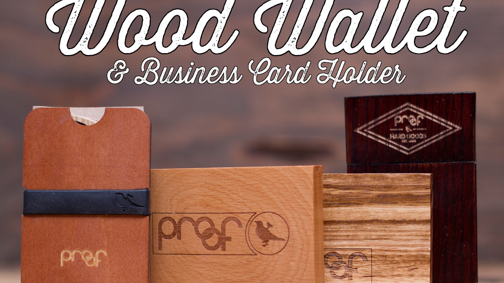 Wood Minimalist wallet / business card holder project video thumbnail