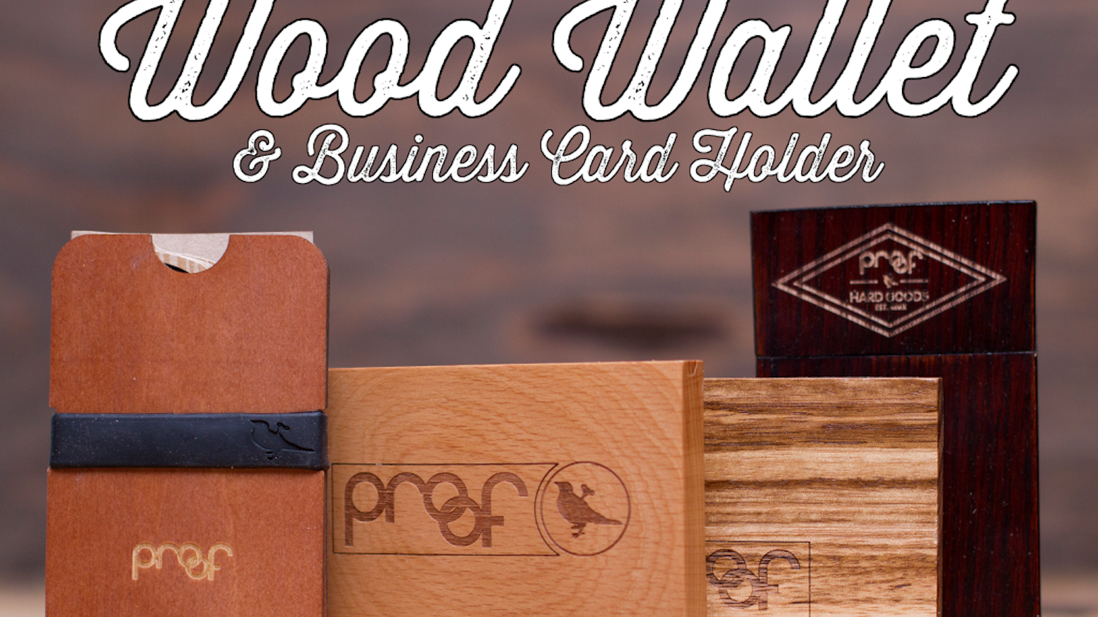 Simplify your life in style. Four uniquely designed Wood Minimalist Wallets crafted from one of a kind woods.