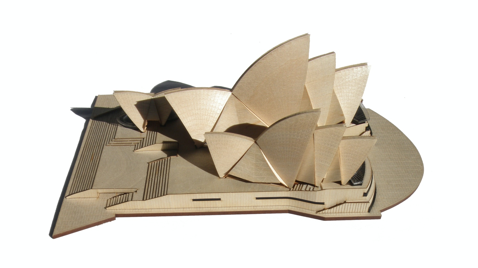 A beautifully crafted timber model kit of the Sydney Opera House. Build your own iconic architectural masterpiece.