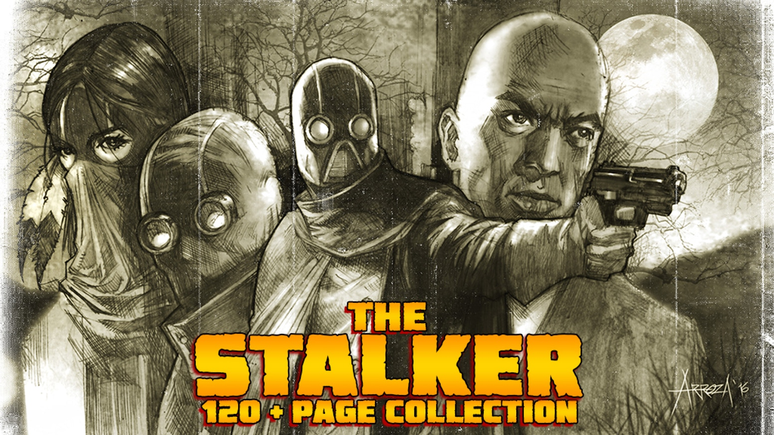 Utilizing an immortal emissary, a zombie driver, and secret operatives, The Stalker hunts evil and protects the city of Obsidian Bay.